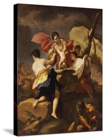 Thetis Dipping the Infant Achilles Into Water from the Styx-Antonio Balestra-Stretched Canvas Print