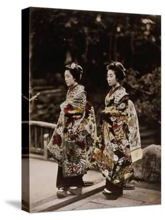 Japanese Costumes, 1880s--Stretched Canvas Print