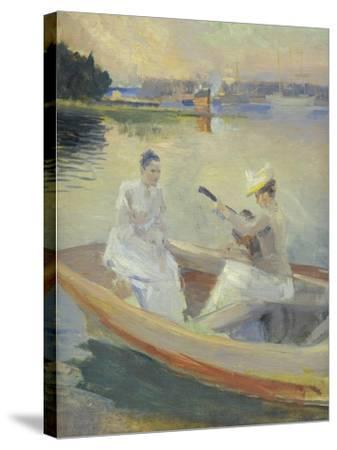 Summer Evening, Borga Harbour, 1889-Albert Edelfelt-Stretched Canvas Print