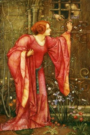 Stone Walls Do Not a Prison Make, Nor Iron Bars a Cage-Edward Reginald Frampton-Stretched Canvas Print
