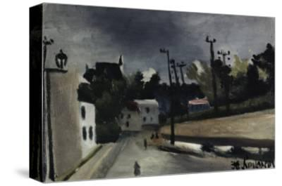 Street Scene-Henri Rousseau-Stretched Canvas Print