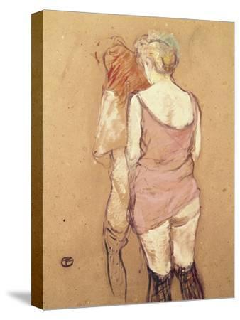 Rue de Moulins: The Medical Inspection-Henri de Toulouse-Lautrec-Stretched Canvas Print