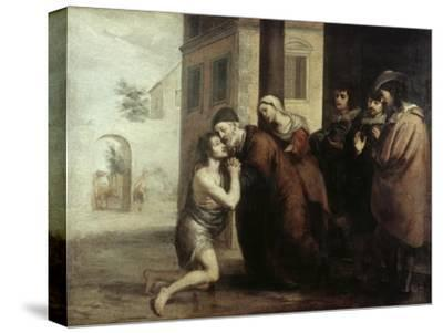 The Return of the Prodigal Son-Bartolome Esteban Murillo-Stretched Canvas Print