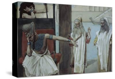 Pharaoh Sueth to Moses-James Tissot-Stretched Canvas Print