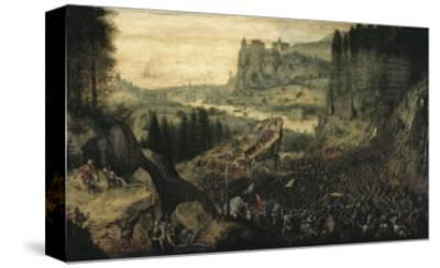 The Suicide of Saul-Pieter Bruegel the Elder-Stretched Canvas Print