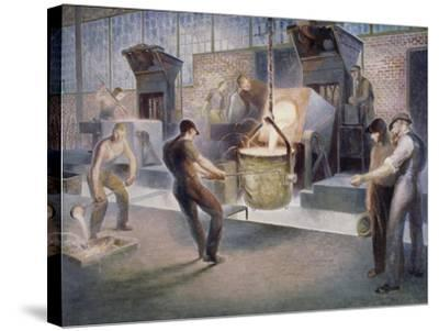 Tapping Induction Furnace-Edmund M^ Ashe-Stretched Canvas Print