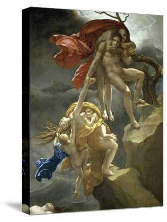 Scene de Deluge-Anne-Louis Girodet de Roussy-Trioson-Stretched Canvas Print