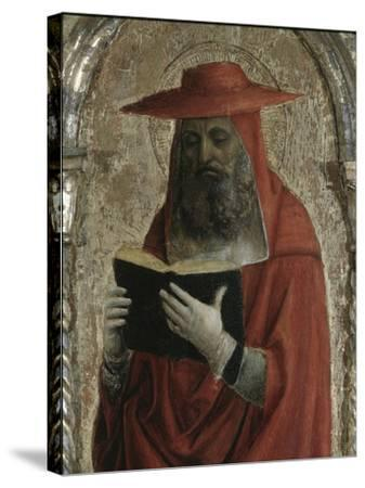 Fornari Polyptych-Detail of Saint Jerome-Vincenzo Foppa-Stretched Canvas Print