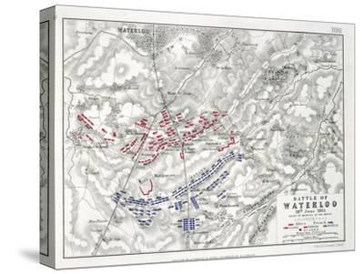 Battle of Waterloo, 18th June 1815, Sheet 1st-Alexander Keith Johnston-Stretched Canvas Print