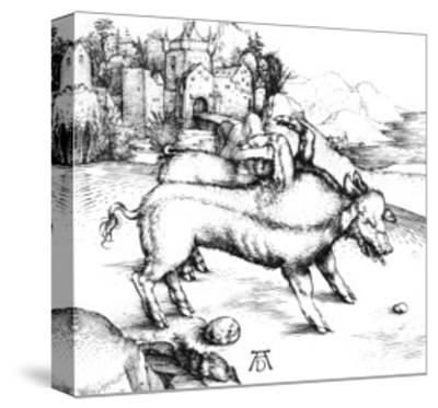 Monstrous Pig-Albrecht D?rer-Stretched Canvas Print