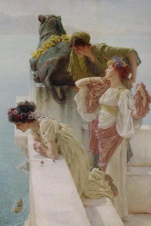 A Coign of Vantage, 1895-Sir Lawrence Alma-Tadema-Stretched Canvas Print