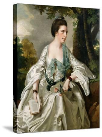 Portrait of Mrs. Nicholas Ashton, Nee Mary Warburton Philpot, 1769-Joseph Wright of Derby-Stretched Canvas Print