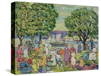 Gloucester Harbour-Maurice Brazil Prendergast-Stretched Canvas Print