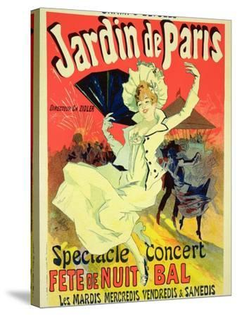 """Reproduction of a Poster Advertising the """"Jardin De Paris"""" on the Chanps Elysees, 1890-Jules Ch?ret-Stretched Canvas Print"""