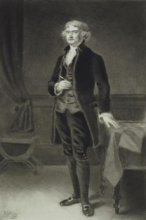 Thomas Jefferson, 3rd President of the United States of America, 1884, Published 1901-Eliphalet Frazer Andrews-Stretched Canvas Print
