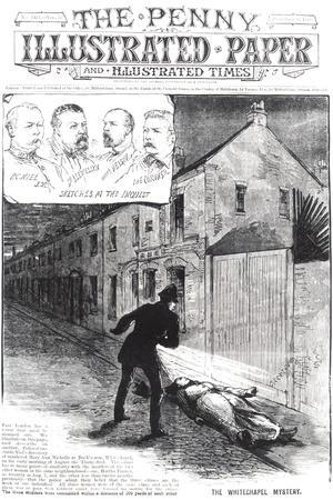 "The Whitechapel Mystery, from ""The Penny Illustrated Paper,"" 8th September 1888--Stretched Canvas Print"