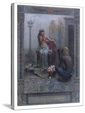 """Cleopatra, Scene from """"Anthony and Cleopatra"""" by By William Shakespeare-Christian August Printz-Stretched Canvas Print"""