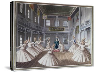 Whirling Dervishes--Stretched Canvas Print