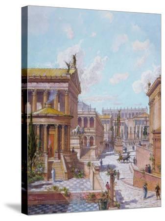 The Roman Forum of Antiquity, 1914-Theodor Josef Hubert Hoffbauer-Stretched Canvas Print