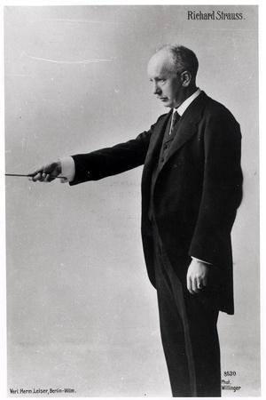Richard Strauss Conducting in Berlin, 1920s--Stretched Canvas Print