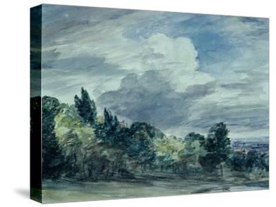 View over a Wide Landscape, with Trees in the Foreground, September 1832-John Constable-Stretched Canvas Print