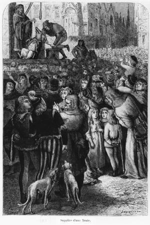 """The Execution of the Sow from Falaise, Illustration from """"The Man and the Beast""""--Stretched Canvas Print"""