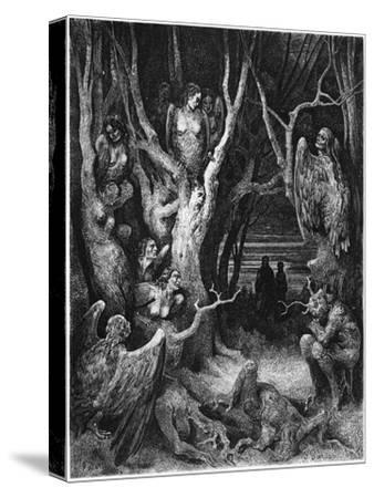 "Harpies, Illustration from ""The Divine Comedy"" by Dante Alighieri Paris, Published 1885-Gustave Dor?-Stretched Canvas Print"
