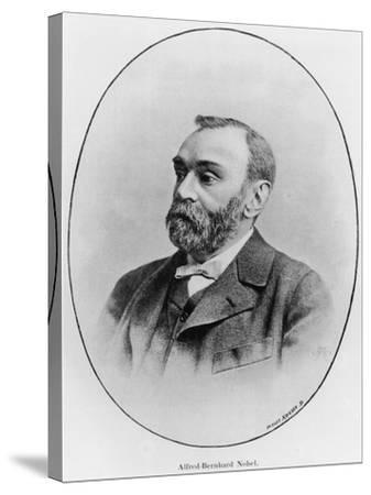 "Alfred Nobel Illustration from ""La Revue Illustree,"" 1902--Stretched Canvas Print"