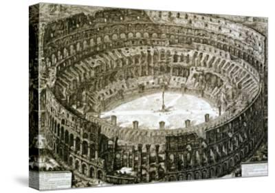 "Aerial View of the Colosseum in Rome from ""Views of Rome""-Giovanni Battista Piranesi-Stretched Canvas Print"