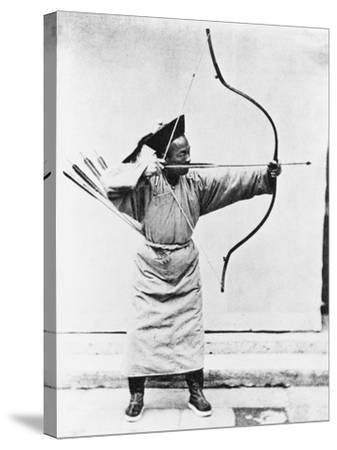 Chinese Archer, circa 1870-John Thomson-Stretched Canvas Print