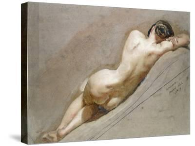 Life Study of the Female Figure-William Edward Frost-Stretched Canvas Print