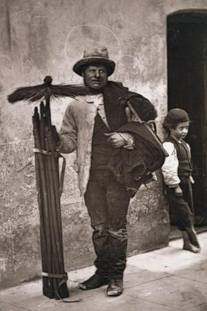 The Temperance Sweep, Woodbury Type Photograph-John Thomson-Stretched Canvas Print