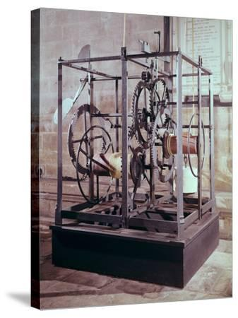 Cathedral Clock Made for the Tower in Salisbury Cathedral, Oldest Known Mechanical Timekeeper--Stretched Canvas Print
