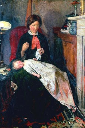 An English Fireside of 1854-5-Ford Madox Brown-Stretched Canvas Print