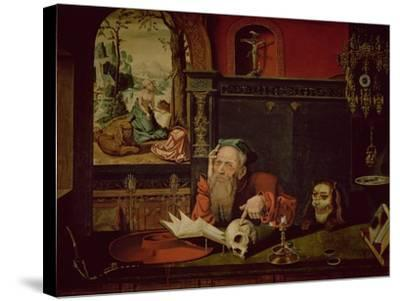 The Meditation of St. Jerome-Quentin Metsys-Stretched Canvas Print