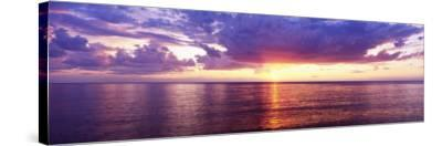Sunset, Lake Superior, USA--Stretched Canvas Print