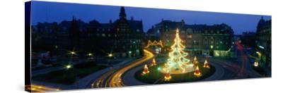 Christmas Lights, Metz, France--Stretched Canvas Print