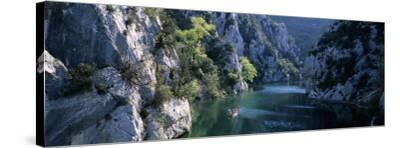 River Flowing Between Mountains, Verdon River, France--Stretched Canvas Print