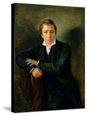 Portrait of Heinrich Heine 1831-Moritz Daniel Oppenheim-Stretched Canvas Print