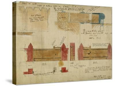 Plans and Elevations for the Red House, Bexley Heath, 1859-Philip Webb-Stretched Canvas Print