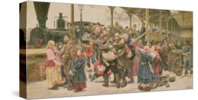 Departing for the War, 1888-Konstantin Apollonovich Savitsky-Stretched Canvas Print