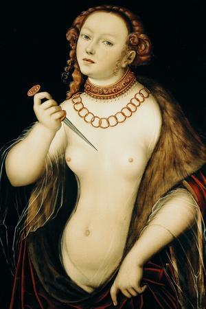 The Suicide of Lucretia, 1538-Lucas Cranach the Elder-Stretched Canvas Print