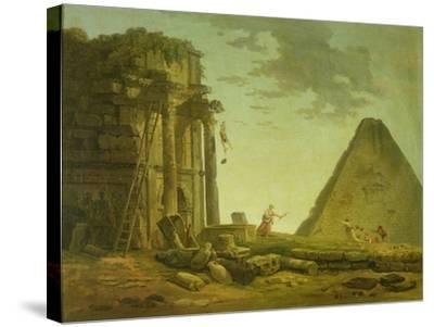 The Accident-Hubert Robert-Stretched Canvas Print