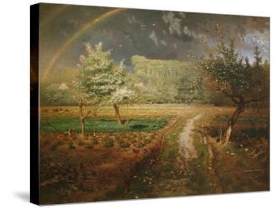 Spring at Barbizon, 1868-73-Jean-Fran?ois Millet-Stretched Canvas Print