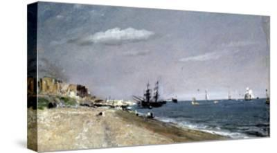 Brighton Beach with Colliers-John Constable-Stretched Canvas Print
