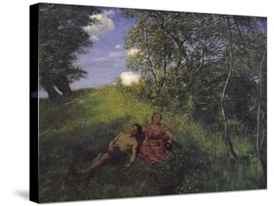Siesta, 1889-Hans Thoma-Stretched Canvas Print