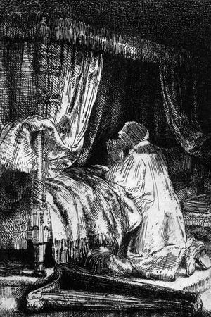 King David at Prayer, 1652-Rembrandt van Rijn-Stretched Canvas Print
