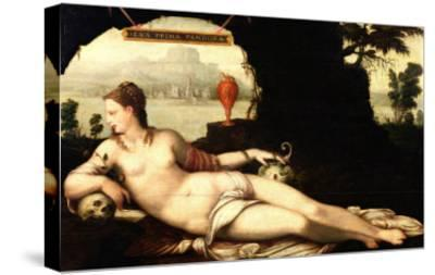 Eva Prima Pandora-Jean The Elder Cousin-Stretched Canvas Print