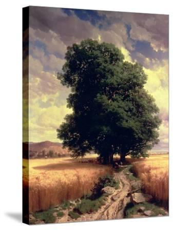 Landscape with Oaks, 1859-Alexandre Calame-Stretched Canvas Print