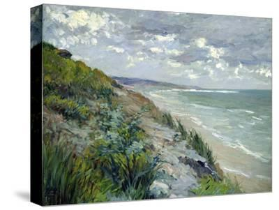 Cliffs by the Sea at Trouville-Gustave Caillebotte-Stretched Canvas Print